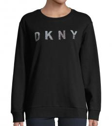 DKNY Black Crew Neck Sweatshirt