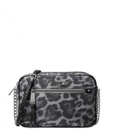 Grey Polly Leopard Medium Crossbody