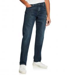 Blue Standard Straight-Fit Denim Jeans