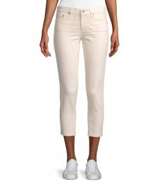 AG Adriano Goldschmied Pink Multi Prima Cropped Jeans