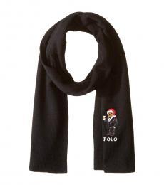 Ralph Lauren Black Santa Martini Knit Scarf