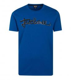 Royal Blue Graphic Logo T-Shirt