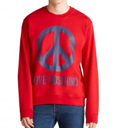 Red Peace Logo Sweatshirt