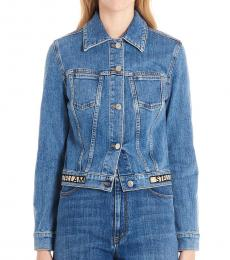 Stella McCartney Blue Logo Tape Jacket