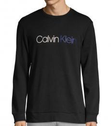 Calvin Klein Black Logo Cotton Sweatshirt