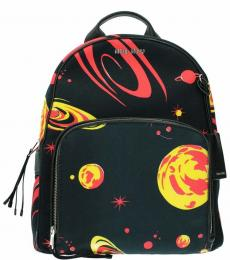 Black Graphic Large Backpack