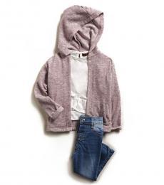 3 Piece Hoodie/T-Shirt/Jeans Set (Baby Girls)