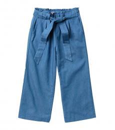 BCBGirls Girls Dark Indigo Paperbag Waist Trousers