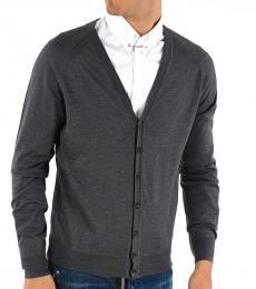 Dsquared2 Grey Solid Wool Cardigan