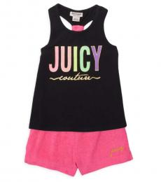Juicy Couture 2 Piece Tank Top/Shorts Set (Little Girls)