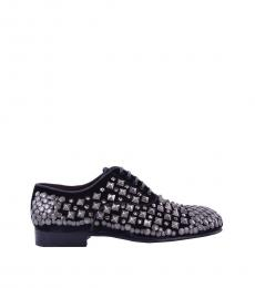 Black Runway Studded Lace Ups