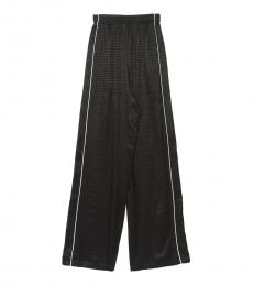 Balenciaga Black Contrast Piping Checkered Pants