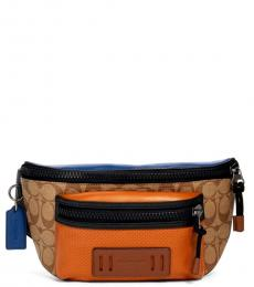 Coach Tan Burnt Sienna Terrain Belt Bag