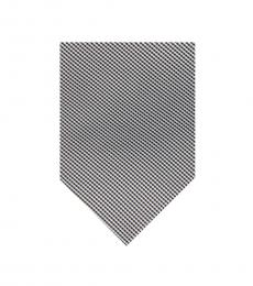 Calvin Klein Black-Grey Micro Stripe Tie
