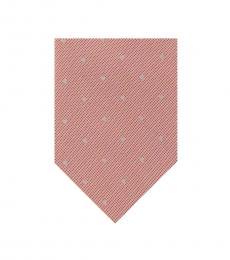Calvin Klein Peach Dotted Tie