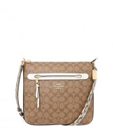 Coach Khaki Mae Large Crossbody