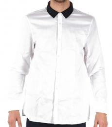 Emporio Armani White Cotton Pique Shirt
