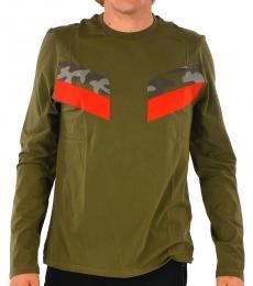 Olive Camo Long Sleeve T-Shirt