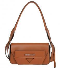 Prada Brown Manuelle Small Shoulder Bag