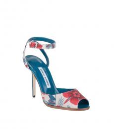 Multicolor Marga Floral Print Heels