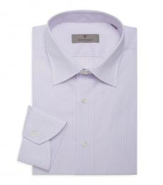 Canali Pink Striped Dress Shirt