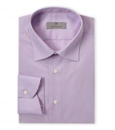 Canali Purple Modern Fit Dress Shirt