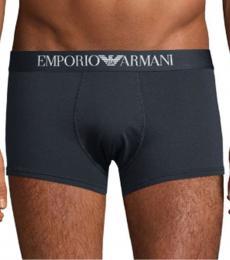Emporio Armani Dark Blue Stretch-Cotton Boxer Briefs