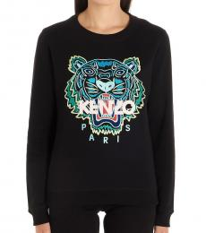 Black Embroidered Logo Sweatshirt
