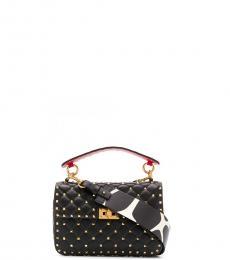 Valentino Garavani Black Rockstud Small Shoulder Bag