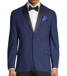 Ben Sherman Navy Blue Diamond-Weave Jacket