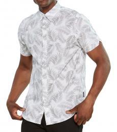 White Short Sleeve Shadow Shirt