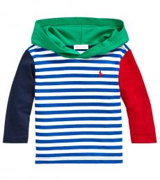 Baby Boys Multicolor Jersey Hooded T-Shirt