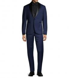 Navy Blue Slim-Fit Tuxedo Suit