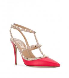 Valentino Garavani Red Rockstud Caged Heels
