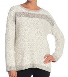 Vince Camuto White Jacquard Sweater