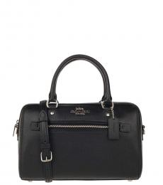 Coach Black/Silver Rowan Small Satchel