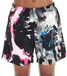 Alexander McQueen Multicolor Ink Flower Swim Shorts
