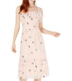 Betsey Johnson Light Pink Polka Dot Midi Dress