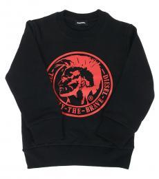 Diesel Little Boys Black Graphic Sweatshirt