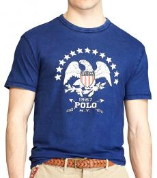 Ralph Lauren Dark Blue Classic Fit Graphic T-Shirt