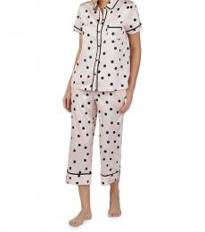 Pink Polka Dot Short-Sleeve Pajama Set