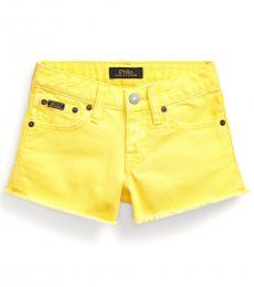 Ralph Lauren Little Girls Lemon Rind Denim Shorts