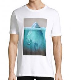 Hugo Boss White Diceberg Graphic T-Shirt