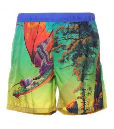 Valentino Garavani Multicolor Dragon Dawn Swimwear