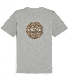 Coach Heather Grey Logo Signature T-Shirt