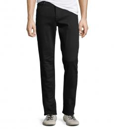 7 For All Mankind Black Standard Straight-Leg Jeans