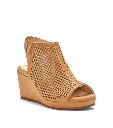 Vince Camuto Little Girls Tan Oriana Wedges