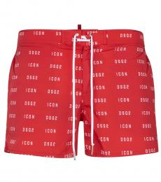 Dsquared2 Coral Logo Trunk Swimshort