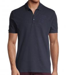 Versace Collection Navy Blue Short Sleeve Polo
