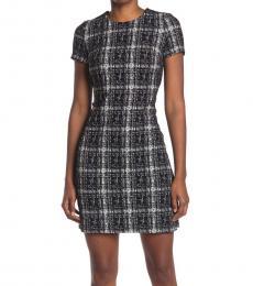 Calvin Klein Black Ponte Plaid Dress